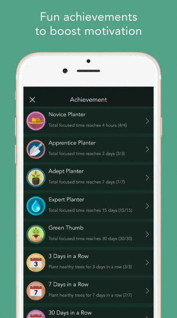 forest app achievements